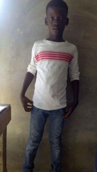 Destin Oscar is 13 and grade 4. He has a mom and dad and they would love to see their son in school.