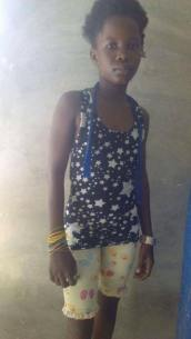 Dieuna Lucas is 12 and in grade 5. She is being raised by her mom.