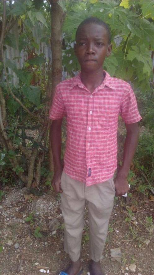 Francois Jamesly is 14 and in grade 7. He is being raised by his mom and would like to be in school.
