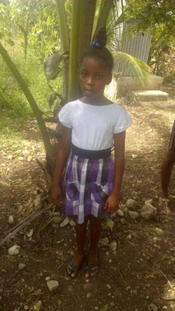 Winnie Innocent is 11 years old and has only been able to attend through grade 2. She lives with her mom.